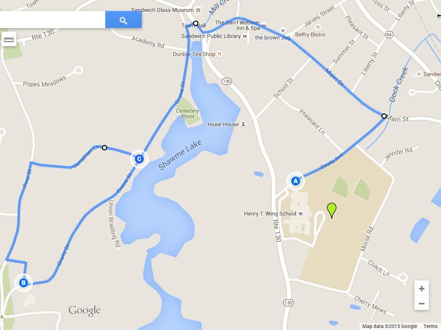 2015 5k Route